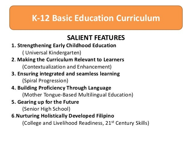 Curriculum and basic education