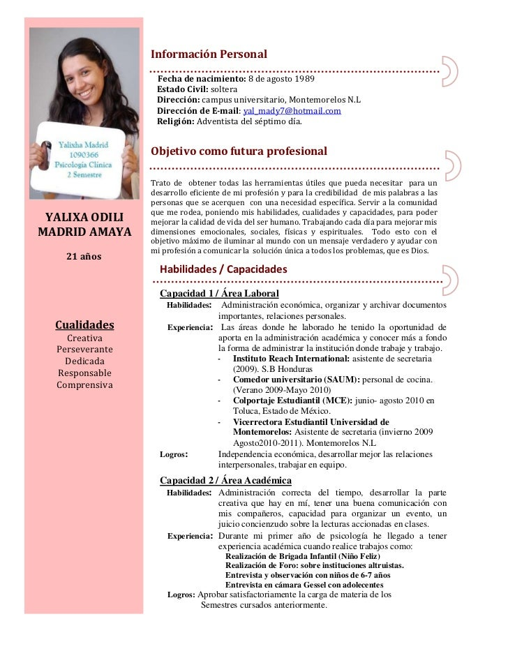 Curriculum de Yalixha