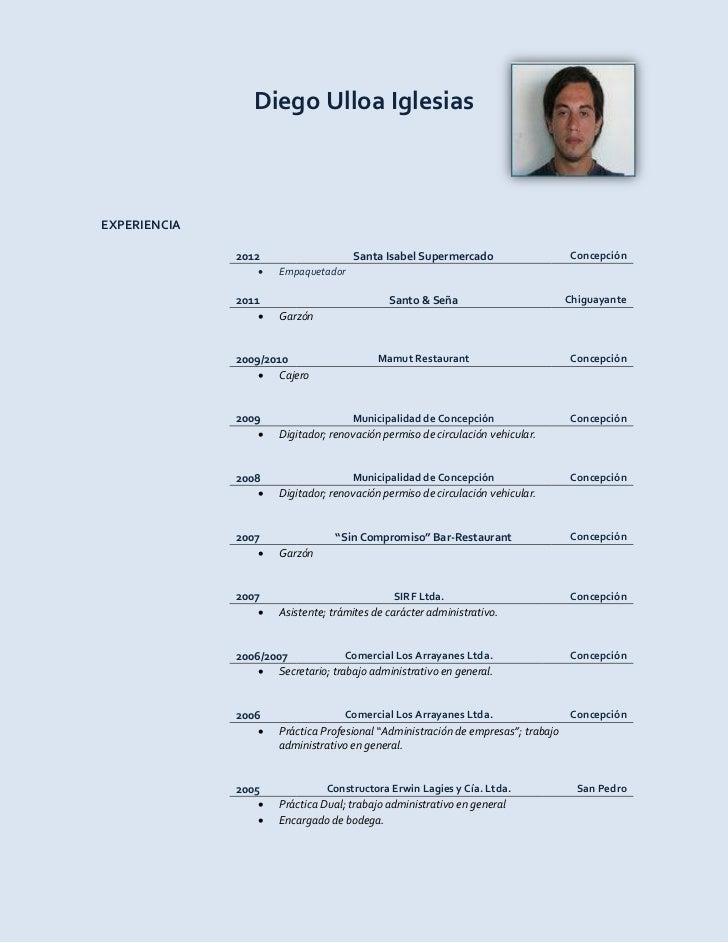Curriculum Vitae Diego Ulloa Iglesias