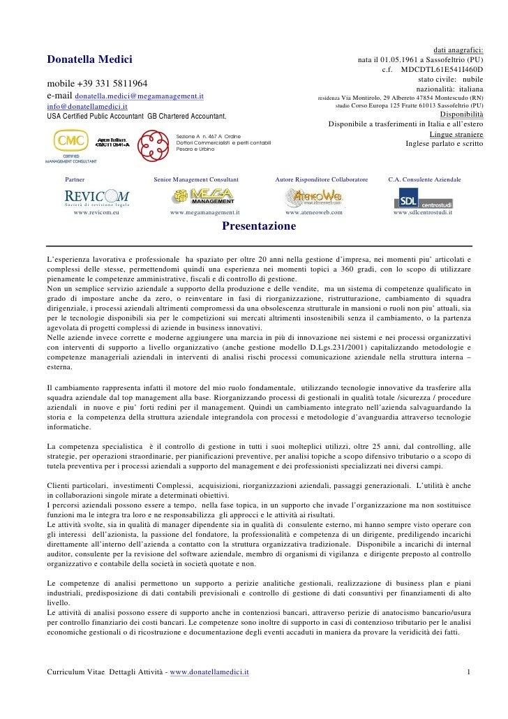 dati anagrafici:Donatella Medici                                                                                          ...