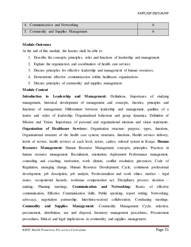 Curriculum draft diploma health promotion human resource management 6 51 fandeluxe Choice Image