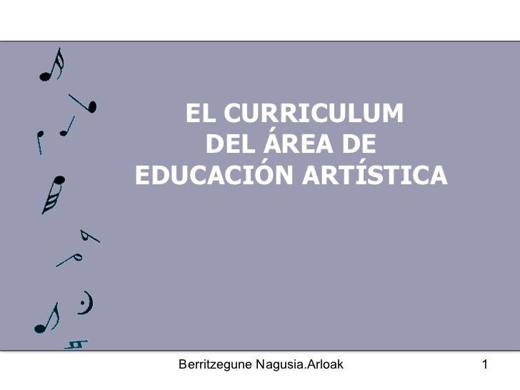 EL CURRICULUM DEL ÁREA DE  EDUCACIÓN ARTÍSTICA