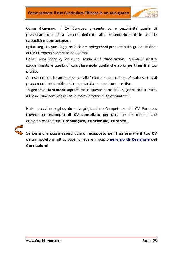 Curriculum Efficace 2012