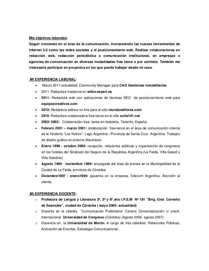Moderno Pasantía De Periodismo Currículum Objetivo Bosquejo - Ideas ...