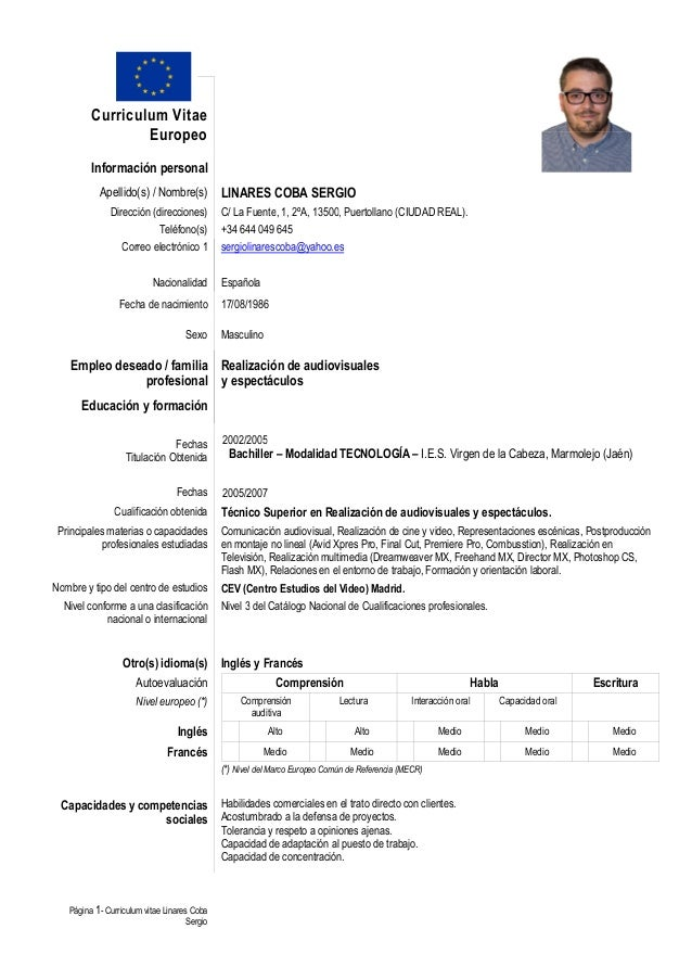 Curriculum Vitae Formato Word Espa Ol Writing An Essay