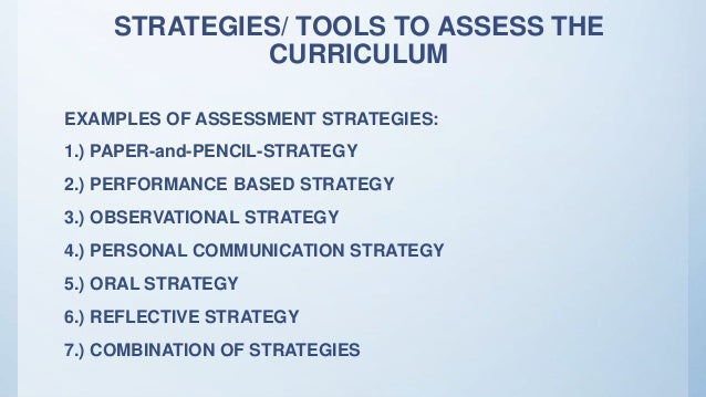 essay on sources of curriculum evaluation The curriculum development process this step includes suggestions to select test sites and conduct a formative evaluation of curriculum materials.