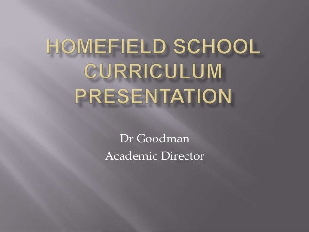 Dr Goodman Academic Director