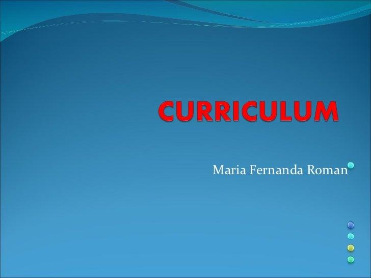 Maria Fernanda Roman