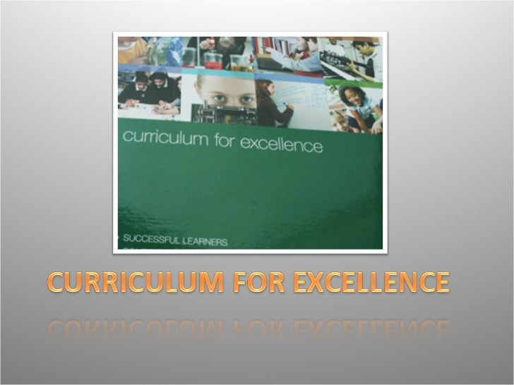 Understanding the Curriculum as a            whole.