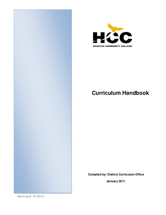 Curriculum Handbook  Compiled by: District Curriculum Office January 2011    Revised 8/2011