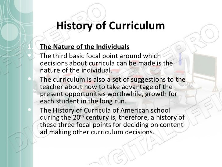history of curriculum Published: september 2013 history programmes of study: key stages 1 and 2 national curriculum in england purpose of study a high-quality history education will help pupils gain a coherent knowledge and.