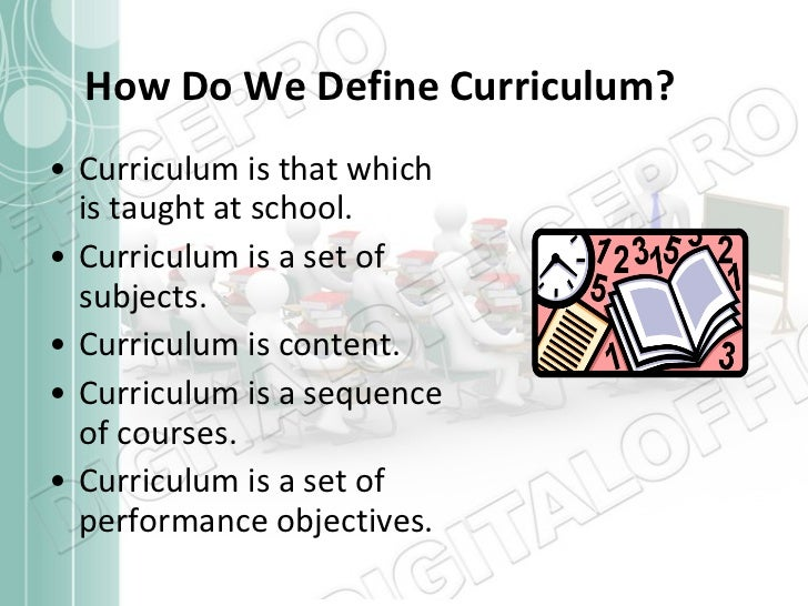 definition of curriculum by different authors pdf
