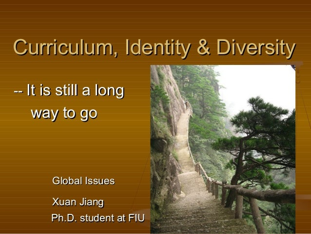 Curriculum, Identity & DiversityCurriculum, Identity & Diversity ---- It is still a longIt is still a long way to goway to...