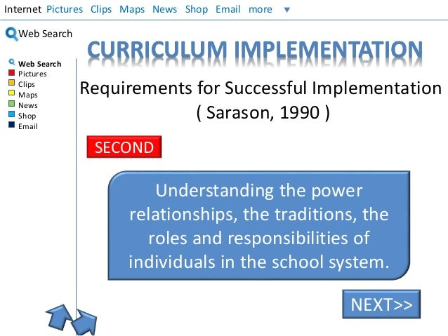 curruculum implementation Piloting is a broad term which can be used in the context of both curriculum evaluation, although it occurs a relatively early stage of the curriculum change process, and curriculum development feasibility studies when a new curriculum is proposed it is important to consider two questions – whether it will offer significant.