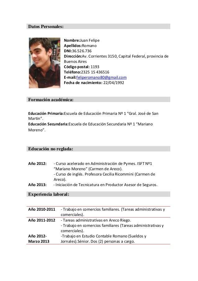 Ejemplo De Curriculum Vitae Moderno 2014 Thietbivesinh123 Com Vn
