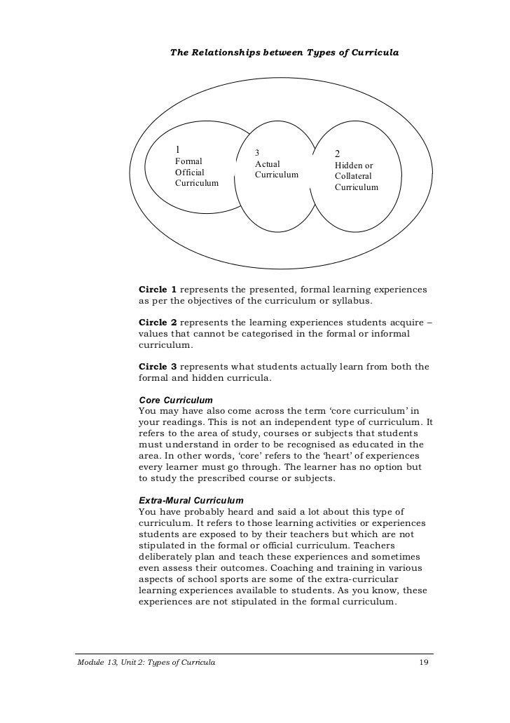 Formal and Hidden Curriculum