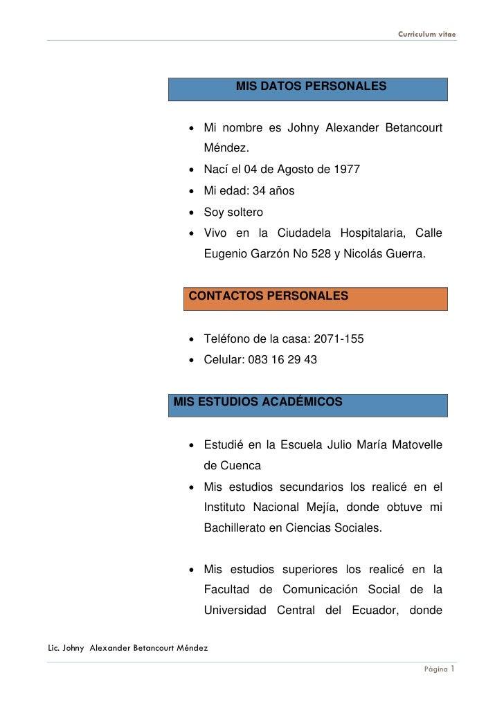 Curriculum johny betancourt11 Slide 2