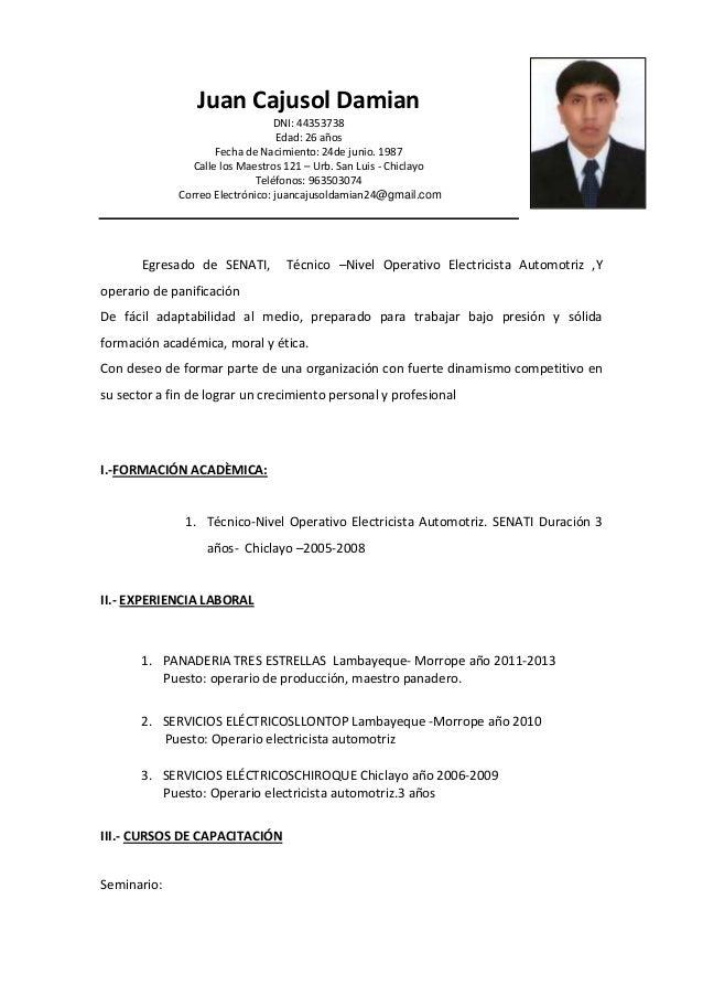 Bonito Currículum De Un Maestro Imágenes - Ideas De Ejemplo De ...