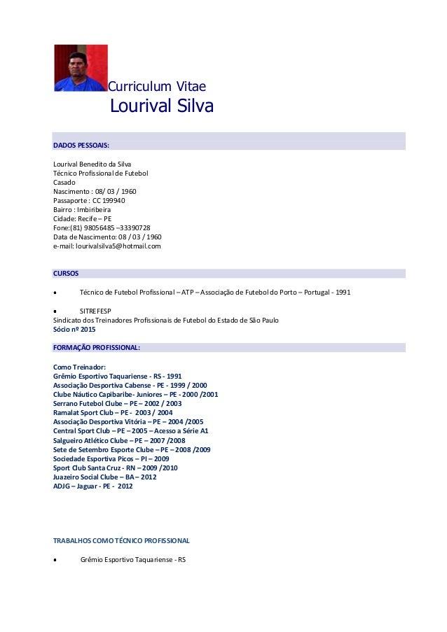 Curriculum Lourival Silva 2012 Revisado