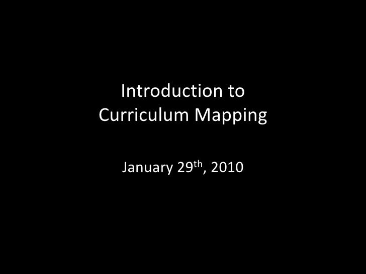 Introduction toCurriculum Mapping<br />January 29th, 2010<br />Silvia Rosenthal Tolisano<br />