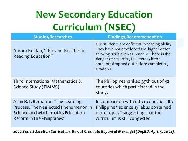 curriculum models  philippines u0026 39  curriculum models