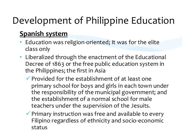 curriculum in the philippines I background profile of the philippines and the filipino culture  basic  education curriculum for elementary (6 years) grade 1-grade 6.