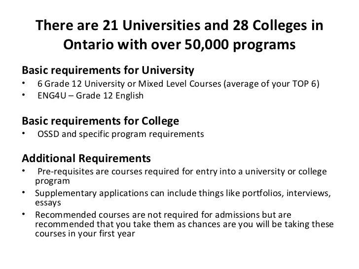How to pick Courses for Grade 12