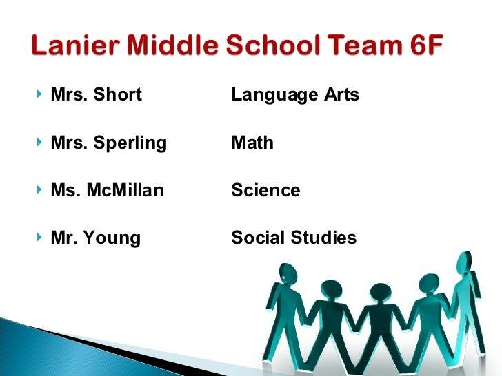 <ul><li>Mrs. Short Language Arts </li></ul><ul><li>Mrs. Sperling Math </li></ul><ul><li>Ms. McMillan Science </li></ul><ul...