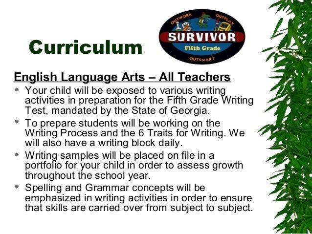 5th grade curriculum night presentation 2013