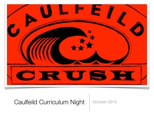 Caulfeild Curriculum Night October 2014