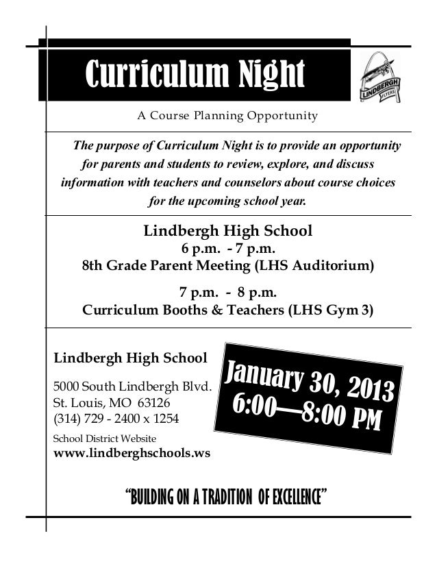 Curriculum Night                  A Course Planning Opportunity   The purpose of Curriculum Night is to provide an opportu...