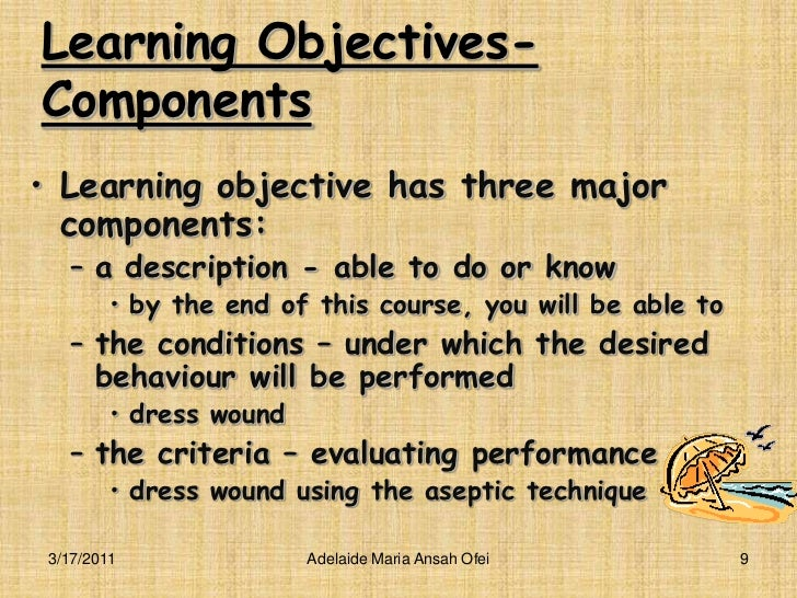 curriculum objectives