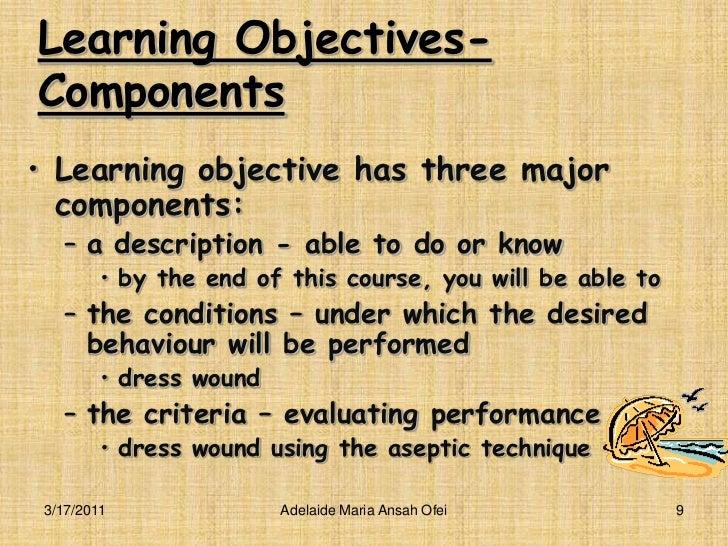 curriculum objectives