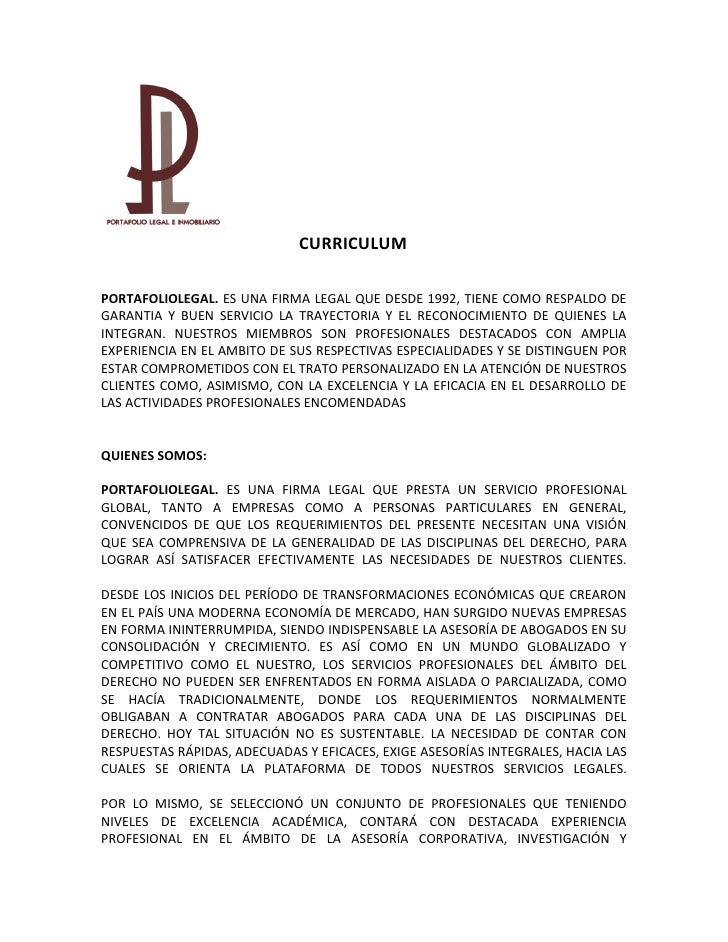 Curriculum portafolio legal
