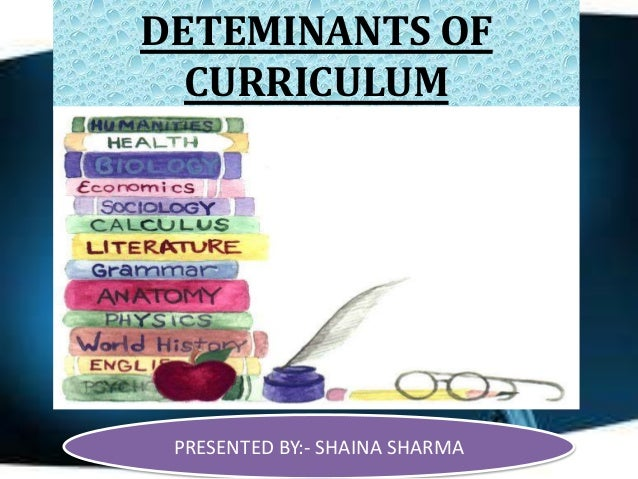 Concept and determinant on curriculum