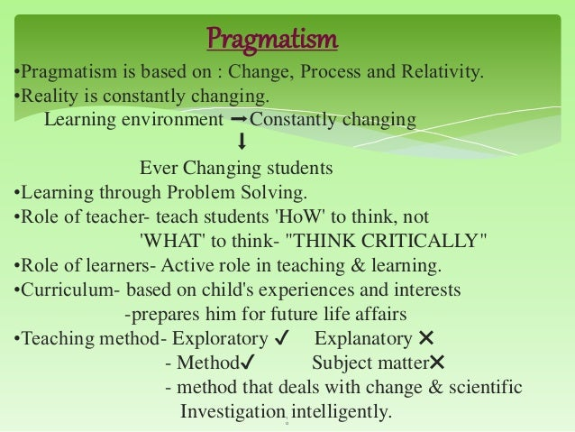 Pragmatism and teachers role