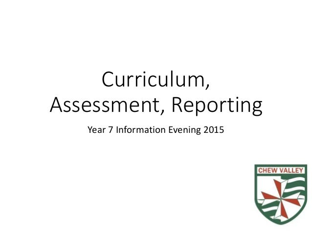 Curriculum, Assessment, Reporting Year 7 Information Evening 2015