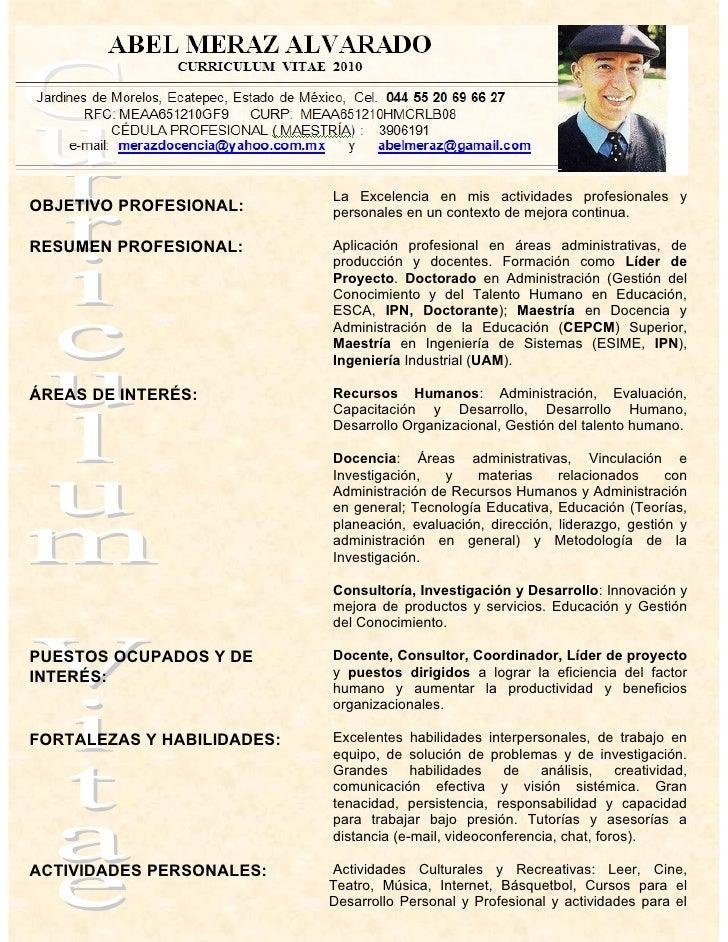 Ejemplos de resume de maestros