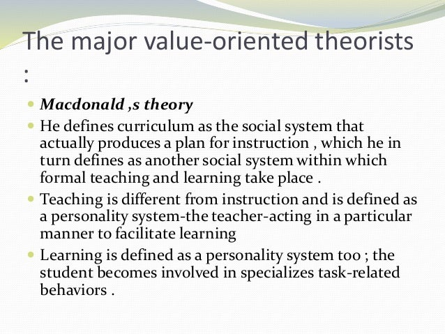 system oriented theory