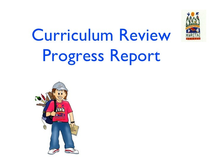 Curriculum Review Progress Report