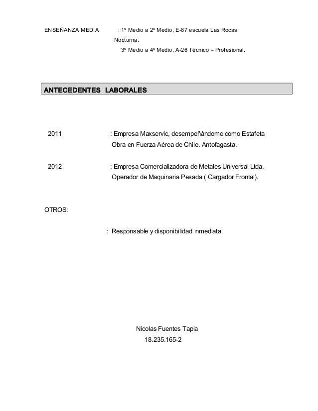 Curriculum Vacio 1