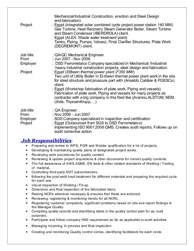 company specialized in 3 - Boiler Engineer Sample Resume