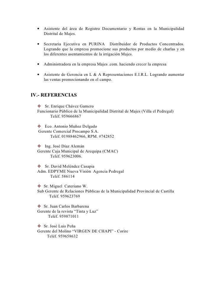 Curriculum De Empresa Formato