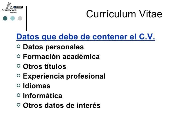 Que Datos Lleba Un Curriculum Vitae 4mat Ulb Ac Be