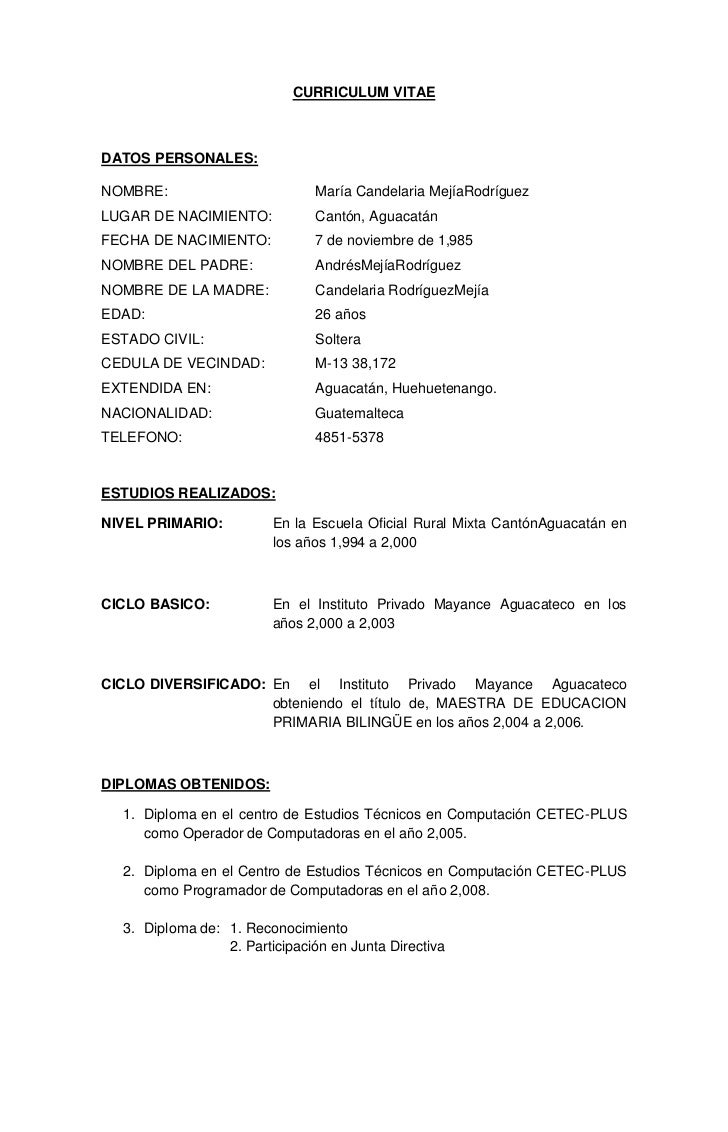Encantador Nombre Un Currículum Colección - Ejemplo De Colección De ...