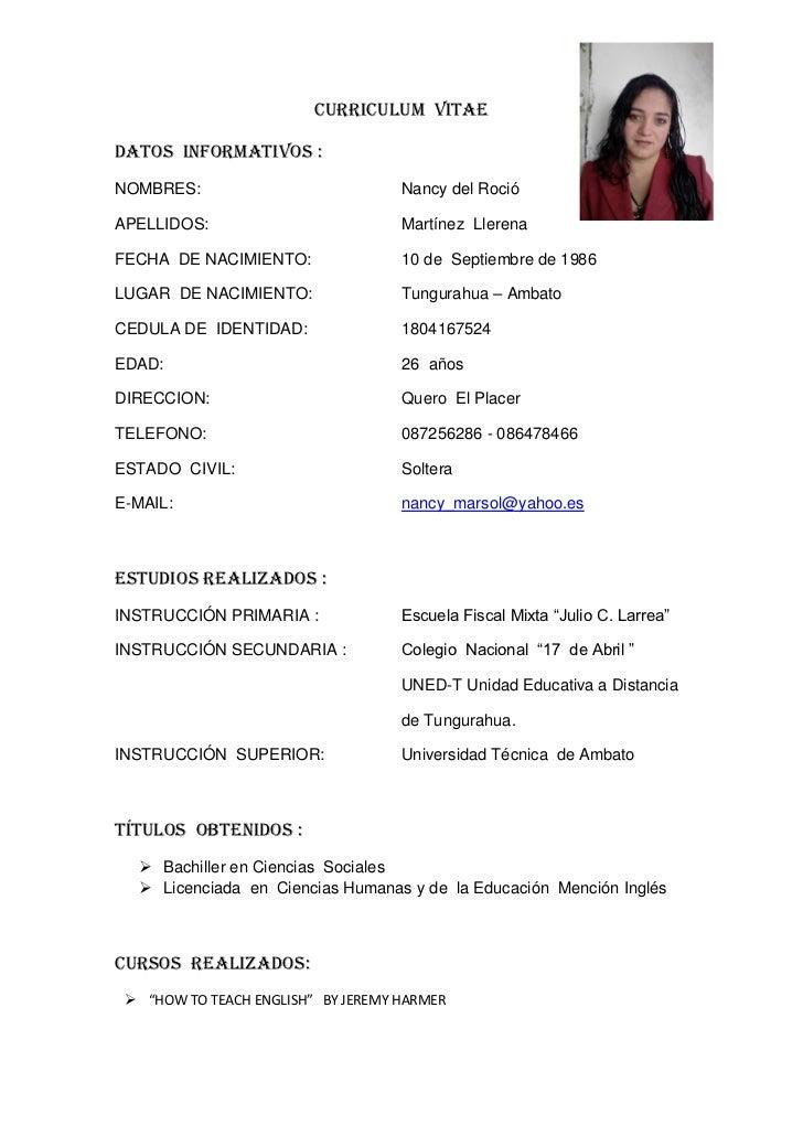Chofer Modelo De Curriculum Vitae Chile Www Imagenesmy Com