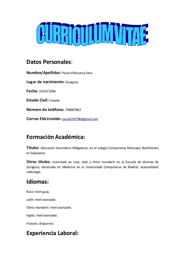 Modelos De Curriculum Vitae Formato Basico Write Essays For Money