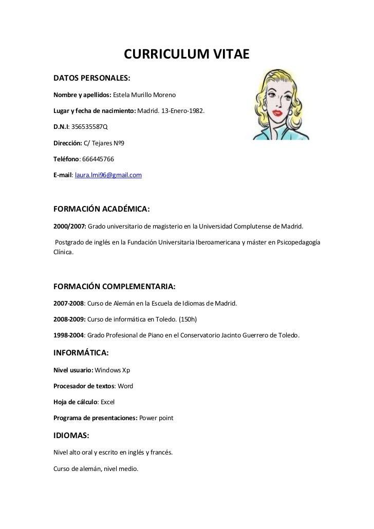 Modelo de CV para completar y descargar como PDF