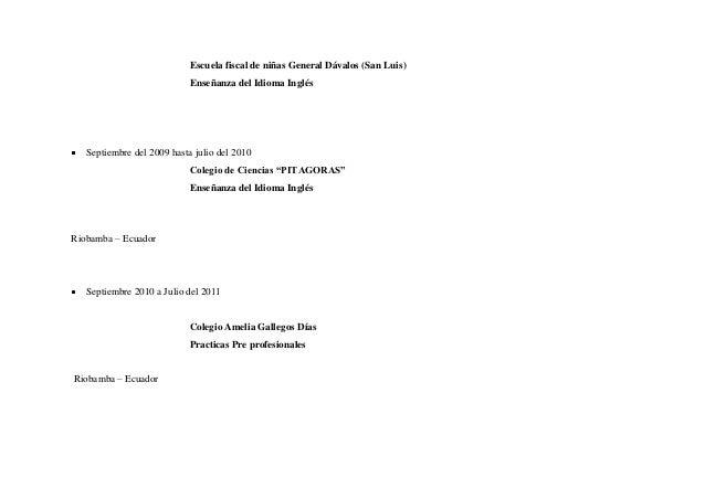 Curriculum Vitae Para La Anonima Rio Gallegos Writing The Research