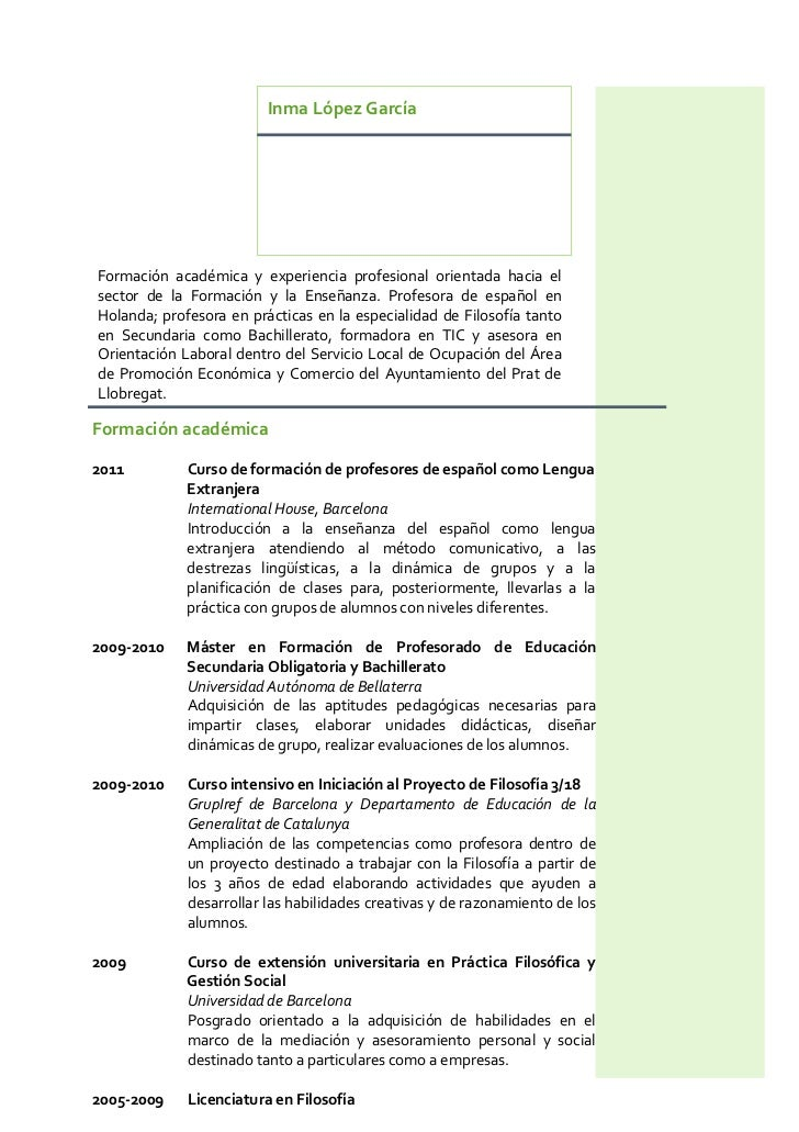 Inma López GarcíaFormación académica y experiencia profesional orientada hacia elsector de la Formación y la Enseñanza. Pr...
